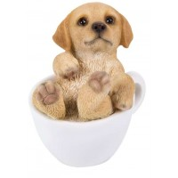 Golden Retriever Mini Teacup Pups Dog Statue