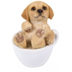 Golden Retriever Mini Teacup Pups Dog Statue Majestic Dragonfly Home Decor, Artwork, Unique Decorations