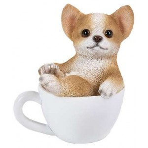 Chihuahua Mini Teacup Pups Dog Statue Majestic Dragonfly Home Decor, Artwork, Unique Decorations