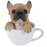 French Bulldog Teacup Pups Dog Statue at Majestic Dragonfly, Home Decor, Artwork, Unique Decorations