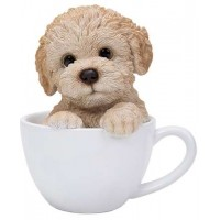 Poodle Teacup Pups Dog Statue