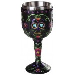 Day of the Dead Sugar Skull Goblet at Majestic Dragonfly, Home Decor, Artwork, Unique Decorations