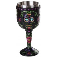 Day of the Dead Sugar Skull Goblet