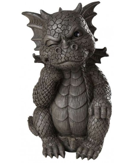 Thinker Dragon Garden Statue at Majestic Dragonfly, Home Decor, Artwork, Unique Decorations