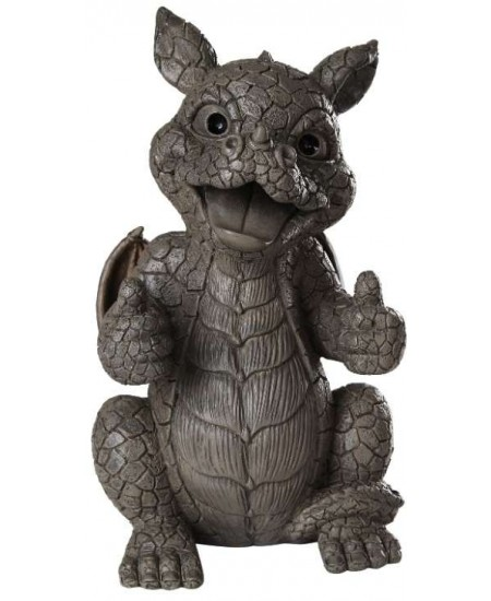 Thumbs Up Dragon Garden Statue at Majestic Dragonfly, Home Decor, Artwork, Unique Decorations