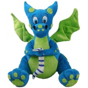 Blue Dragon Plush Toy Majestic Dragonfly Home Decor, Artwork, Unique Decorations