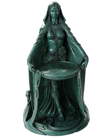 Danu Celtic Goddess Resin 16 Inch Statue at Majestic Dragonfly, Home Decor, Artwork, Unique Decorations