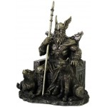 Odin the All-Father Norse God with Wolves Statue at Majestic Dragonfly, Home Decor, Artwork, Unique Decorations