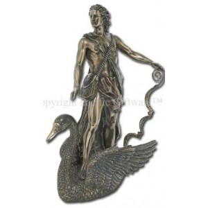 Apollo Greek God of Light on Swan Bronze Statue Majestic Dragonfly Home Decor, Artwork, Unique Decorations