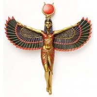 Winged Isis Egyptian Goddess Plaque