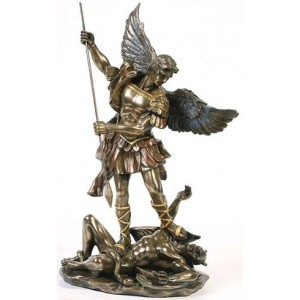 Archangel St Michael 10 Inch Statue Majestic Dragonfly Home Decor, Artwork, Unique Decorations