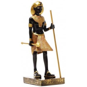 Egyptian King Tut Tomb Guardian Statue - 6.5 Inches Majestic Dragonfly Home Decor, Artwork, Unique Decorations