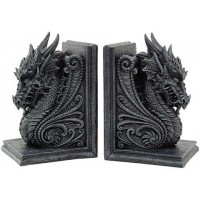 Dragon Head Ornate Bookends