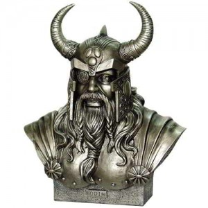 Odin King of the Norse Gods Statue by Monte Moore Majestic Dragonfly Home Decor, Artwork, Unique Decorations
