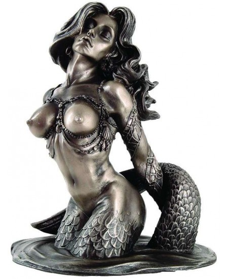 Sunsatiable Mermaid Statue by Monte Moore at Majestic Dragonfly, Home Decor, Artwork, Unique Decorations