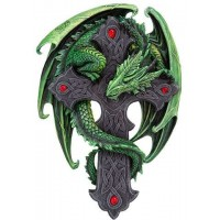 Woodland Guardian Dragon Plaque by Anne Stokes