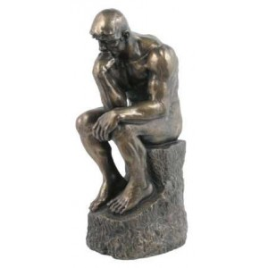 The Thinker by Rodin 10 Inch Bronze Statue Majestic Dragonfly Home Decor, Artwork, Unique Decorations