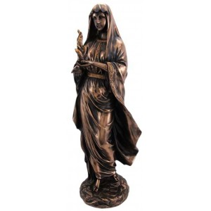 Hestia Greek Goddess of the Hearth and Home Statue Majestic Dragonfly Home Decor, Artwork, Unique Decorations