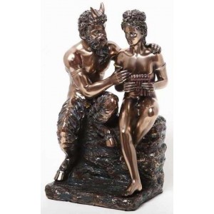 Pan and Daphne Greek Myth Statue Majestic Dragonfly Home Decor, Artwork, Unique Decorations