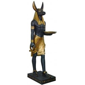 Anubis Egyptian Dog God Life Size 6 Feet Tall Statue Majestic Dragonfly Home Decor, Artwork, Unique Decorations