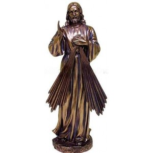 Divine Mercy Jesus Christian Bronze Statue Majestic Dragonfly Home Decor, Artwork, Unique Decorations
