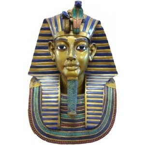 King Tut Bust 19 Inch Egyptian Pharaoh Statue Majestic Dragonfly Home Decor, Artwork, Unique Decorations