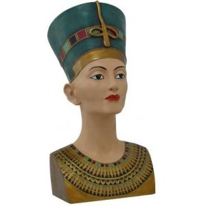 Nefertiti Egyptian Queen 18 Inch Bust Majestic Dragonfly Home Decor, Artwork, Unique Decorations