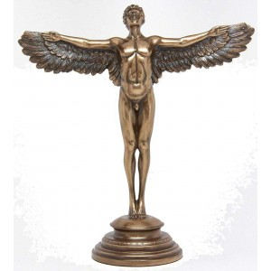 Rising Day Angel Bronze Statue Majestic Dragonfly Home Decor, Artwork, Unique Decorations
