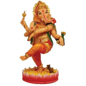Dancing Ganesha Hindu God Statue Majestic Dragonfly Home Decor, Artwork, Unique Decorations