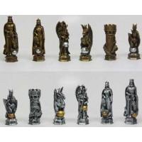 King Arthur Fantasy Chess Set with Glass Board