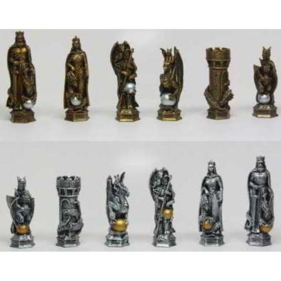 Detailed Chess Set Part - 16: King Arthur Fantasy Chess Set With Glass Board At Majestic Dragonfly, Home  Decor, Artwork