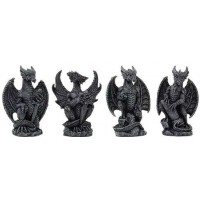 Mini Dragon Statue Set of 4