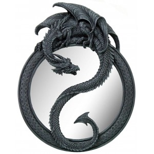 Dragon Ying Yang Wall Mirror Majestic Dragonfly Home Decor, Artwork, Unique Decorations