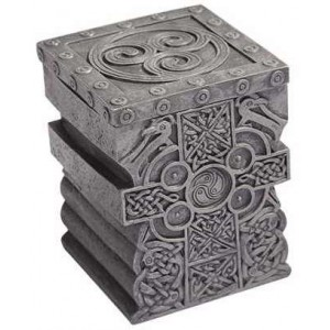 Celtic Cross Lift Top Trinket Box Majestic Dragonfly Home Decor, Artwork, Unique Decorations