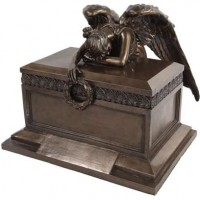 Angel of Bereavement Bronze Memorial Urn