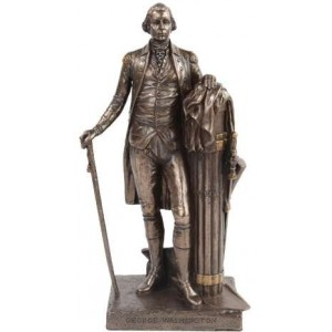 George Washington Presidential Bronze Statue Majestic Dragonfly Home Decor, Artwork, Unique Decorations
