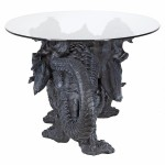 Shire Dragon Glass Topped Coffee Table at Majestic Dragonfly, Home Decor, Artwork, Unique Decorations