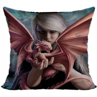 Dragon Kin Pillow Cushion by Anne Stokes