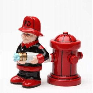 Fireman Salt and Pepper Shakers Majestic Dragonfly Home Decor, Artwork, Unique Decorations