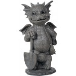 Gardeneing Dragon Garden Statue at Majestic Dragonfly, Home Decor, Artwork, Unique Decorations