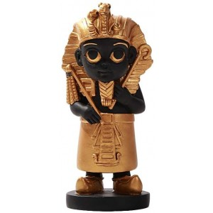 King Tut Little Egyptian Pharoah Statue Majestic Dragonfly Home Decor, Artwork, Unique Decorations