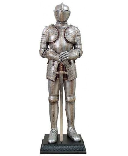 Knight with Sword Lifesize Suit of Armor Statue at Majestic Dragonfly, Home Decor, Artwork, Unique Decorations
