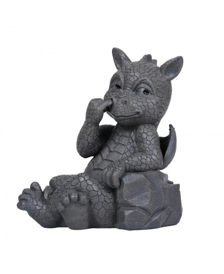 Nose Picker Dragon Garden Statue at Majestic Dragonfly, Home Decor, Artwork, Unique Decorations