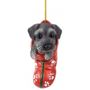 Schnauzer Pet Pals Christmas Stocking Ornament Majestic Dragonfly Home Decor, Artwork, Unique Decorations