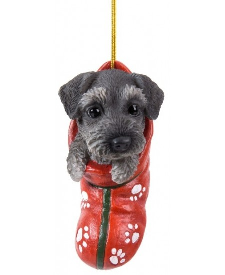 Schnauzer Pet Pals Christmas Stocking Ornament at Majestic Dragonfly, Home Decor, Artwork, Unique Decorations