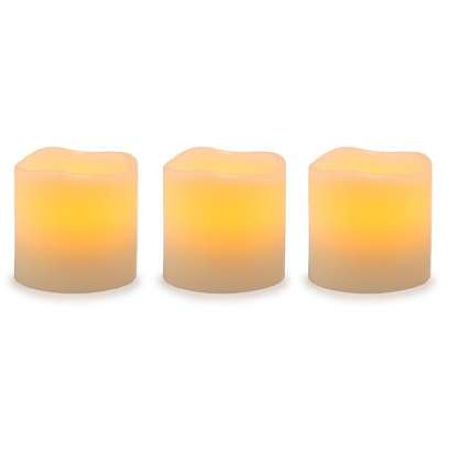 unscented led pillar candles with timer set of 3 at majestic dragonfly home decor - Flameless Candles With Timer