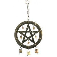 Pentacle Wind Chime with Bells