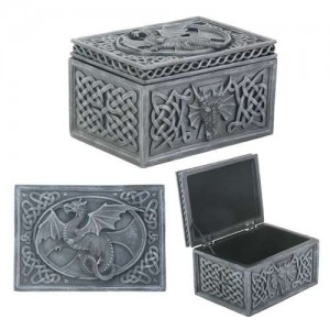 Dragon Celtic Jewelry Box Majestic Dragonfly Home Decor, Artwork, Unique Decorations