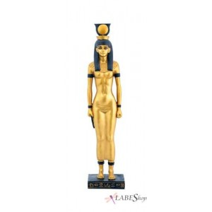 Hathor Egyptian Mother Goddess Statue Majestic Dragonfly Home Decor, Artwork, Unique Decorations
