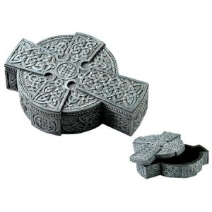 Celtic Cross Trinket Box Majestic Dragonfly Home Decor, Artwork, Unique Decorations